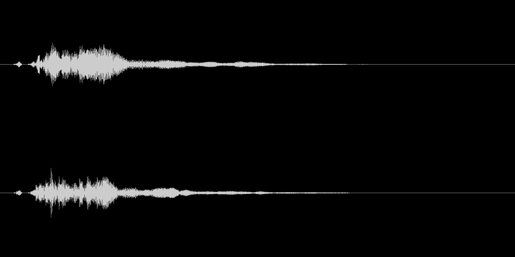 シンプルなタッチ/決定/クリック/10の未再生の波形
