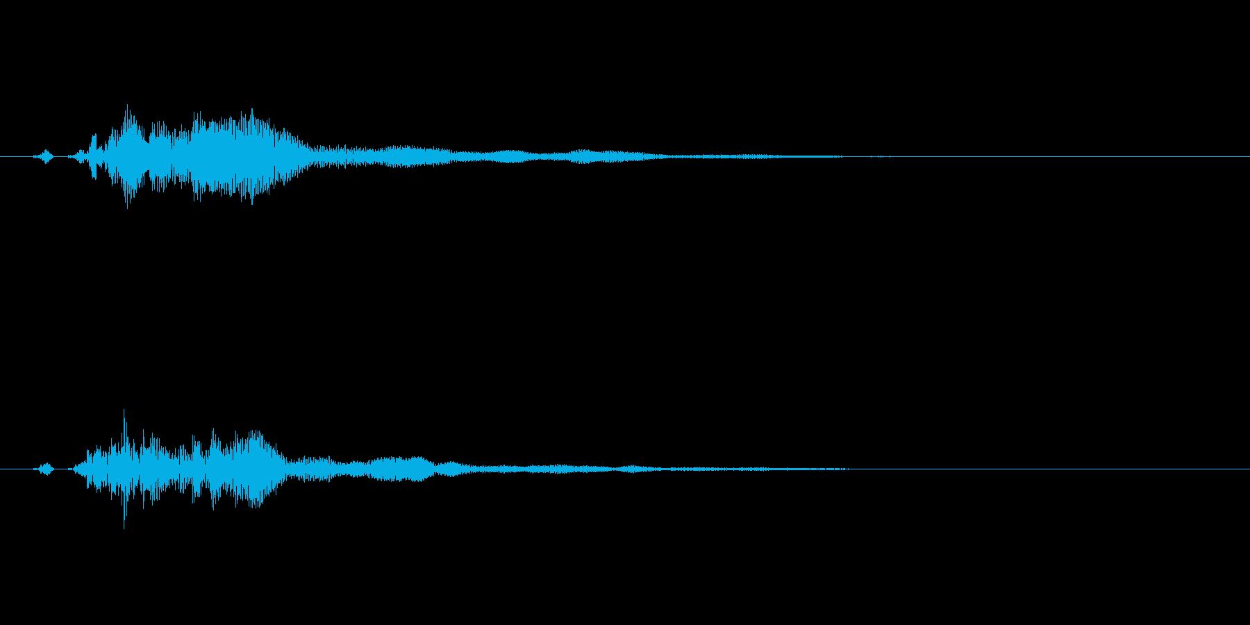 シンプルなタッチ/決定/クリック/10の再生済みの波形