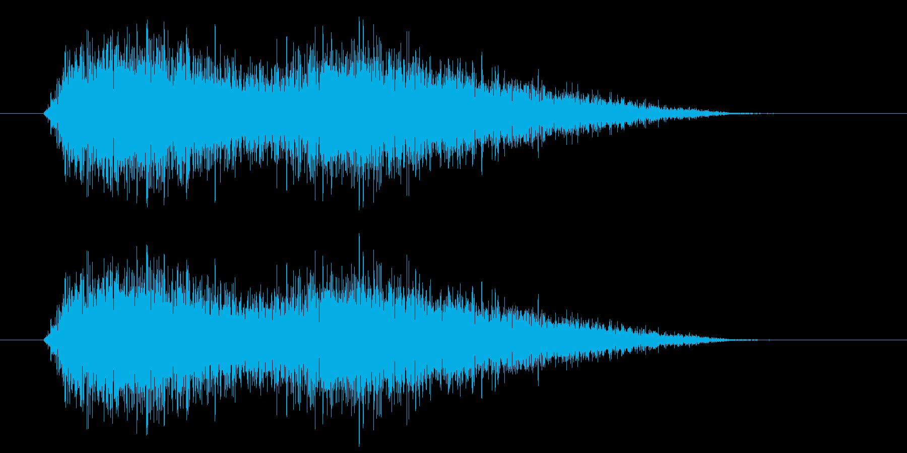 ヒュー(風の音) 02の再生済みの波形