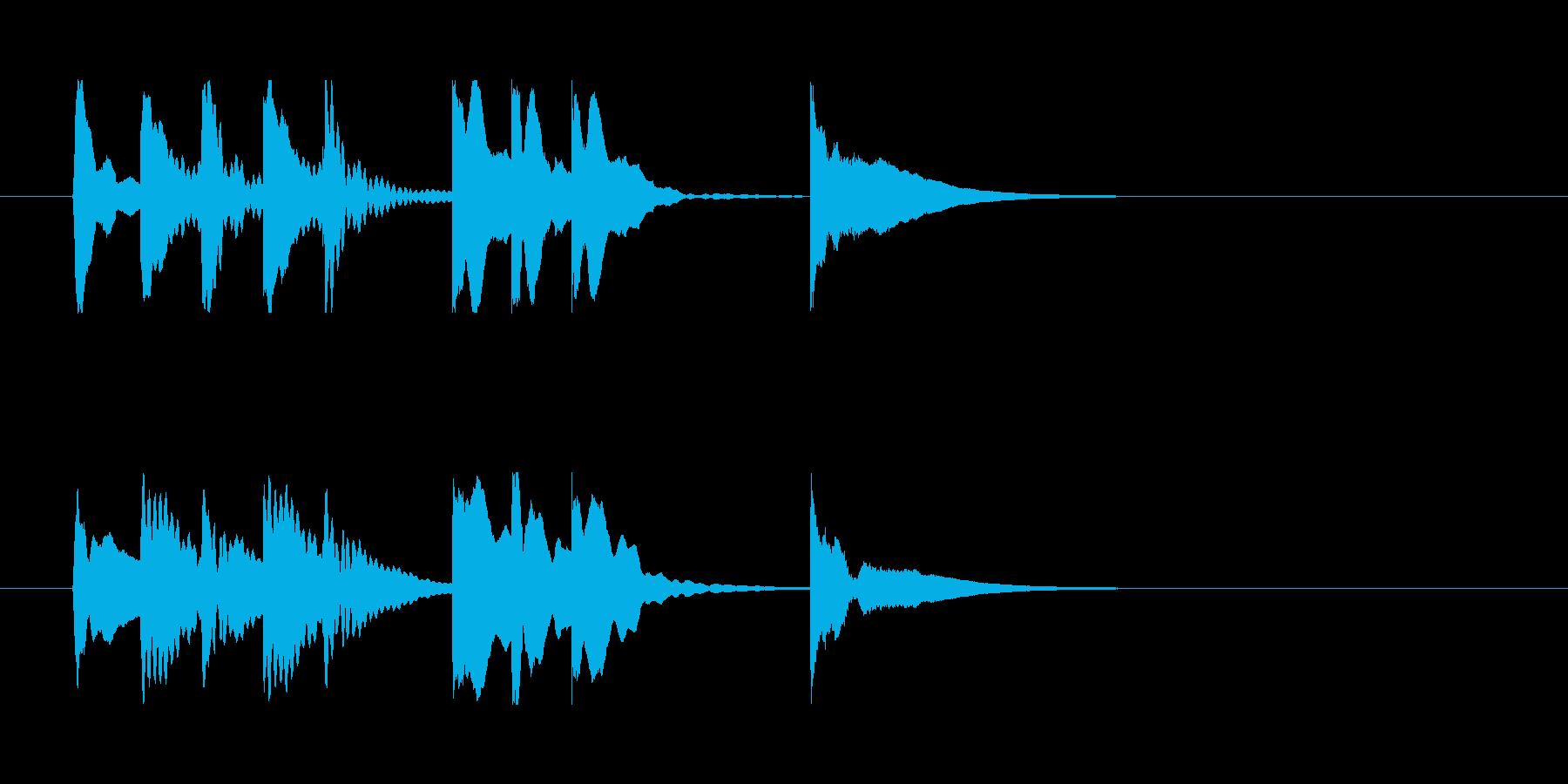 【明から明スイッチ1】の再生済みの波形