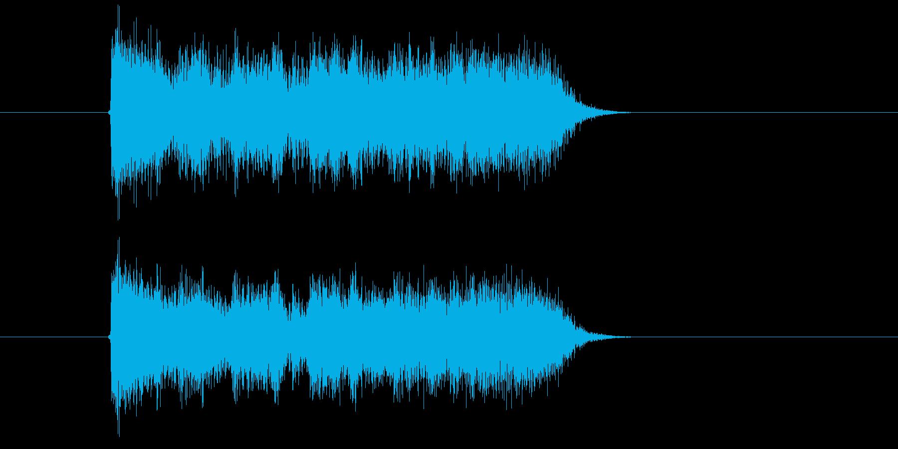 激しく勢いのあるギターサウンド短めの再生済みの波形