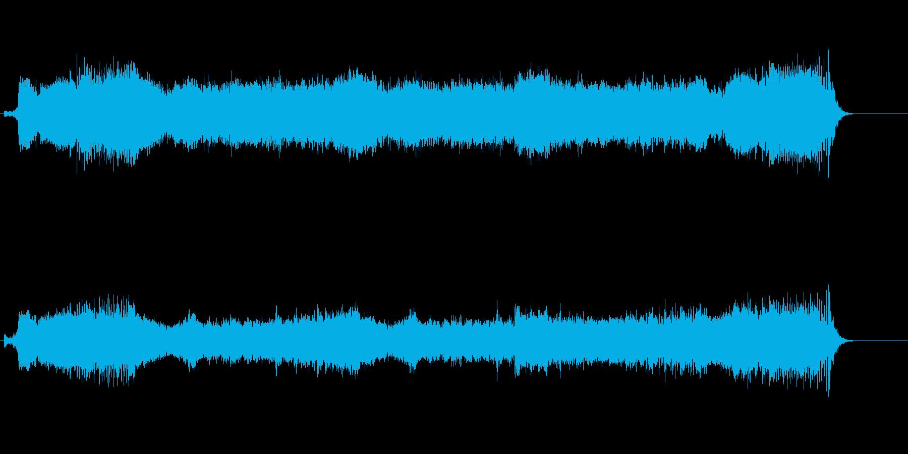 ドラマチックな展開のミュージカル風の再生済みの波形