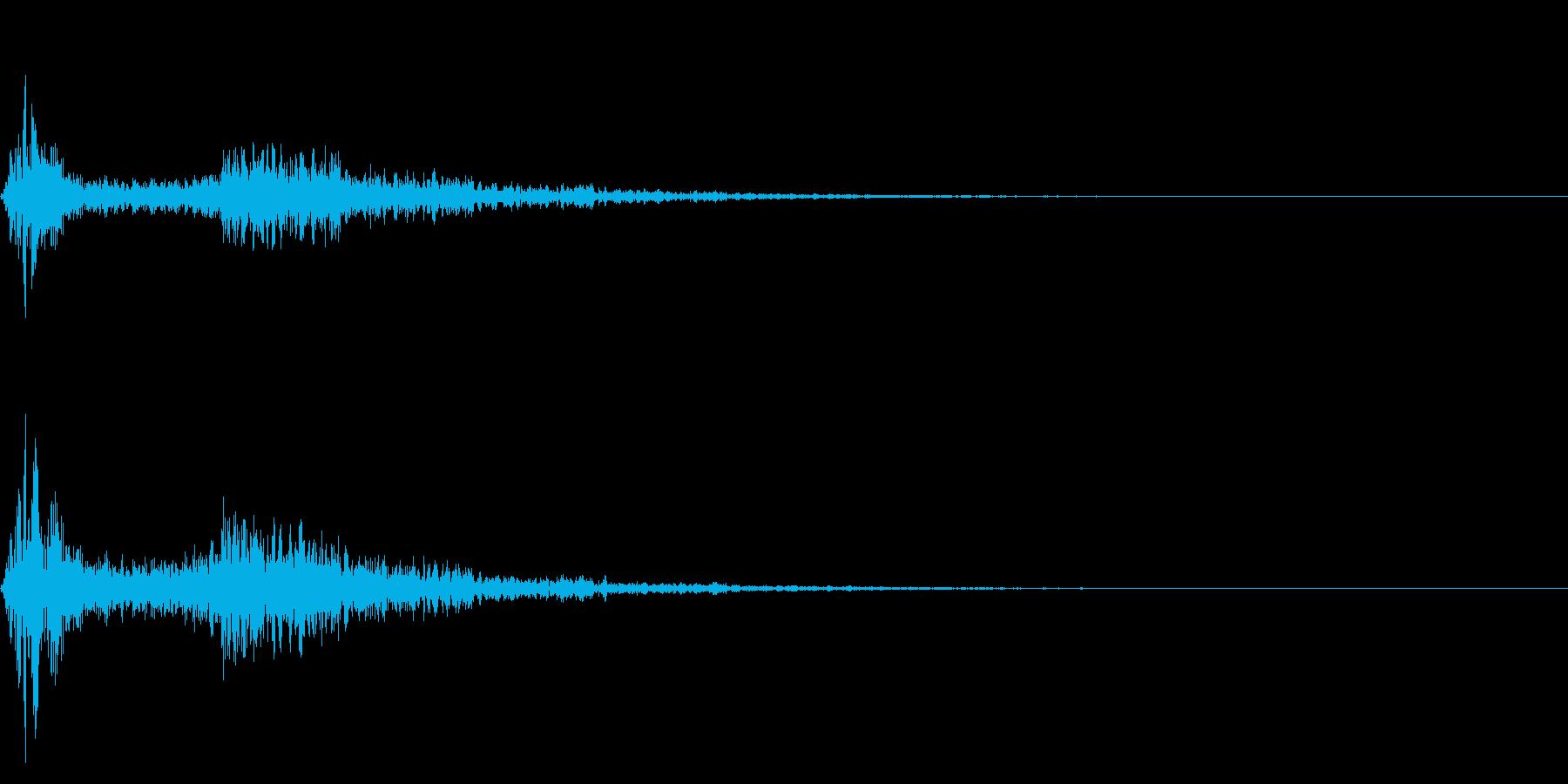 バシューン(何かが飛び出す音)の再生済みの波形