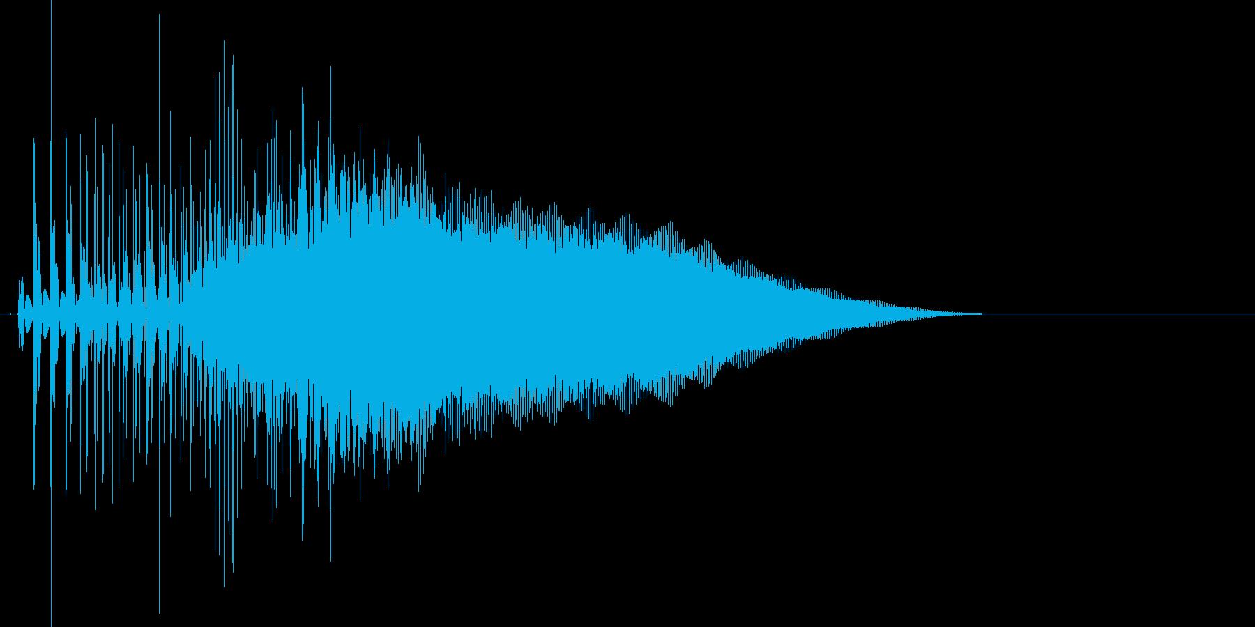 8bit音源の(波動砲ビーム音)1の再生済みの波形