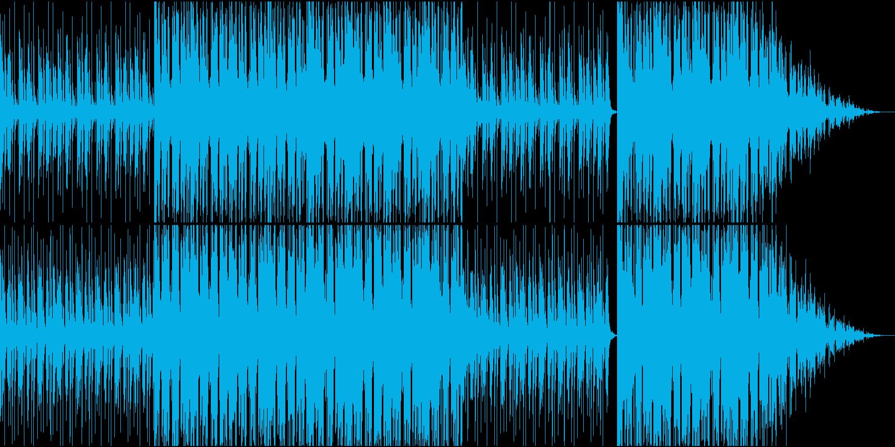 突然雰囲気が変化するBGMの再生済みの波形