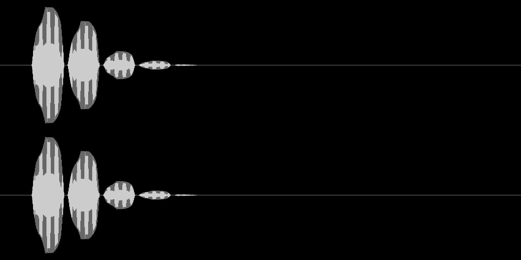 SNES 格闘05-10(選択)の未再生の波形
