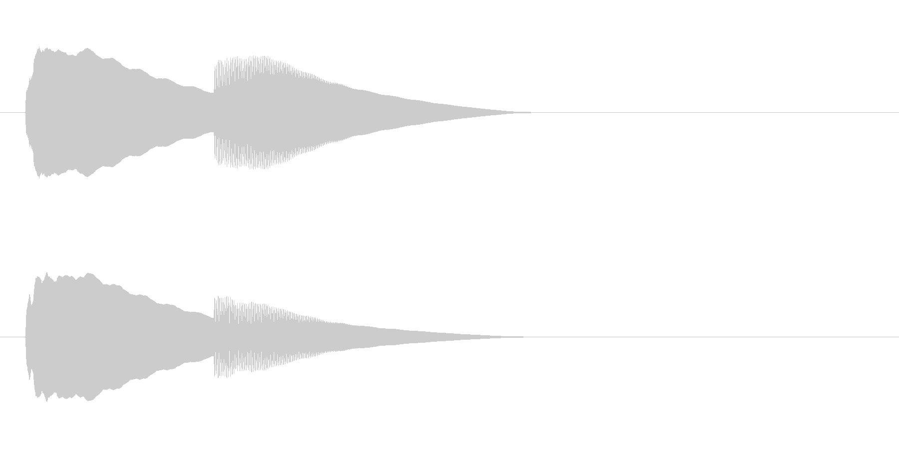 【ドアベル ピンポン01-2】の未再生の波形
