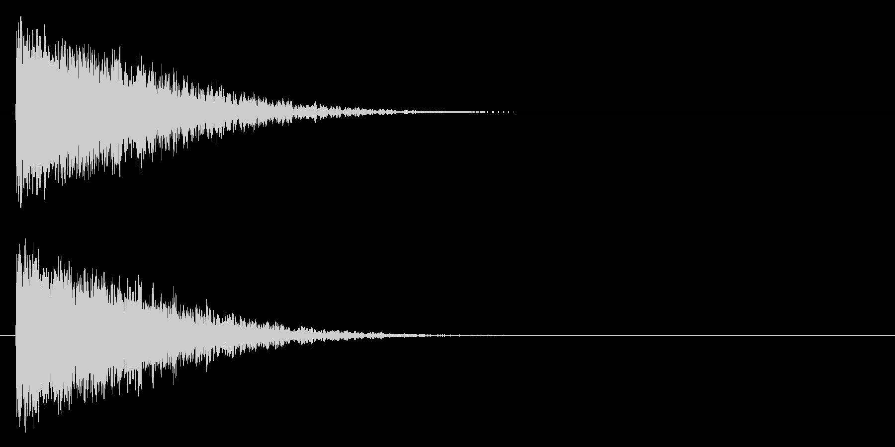 カキーン/氷魔法/黒魔法の未再生の波形