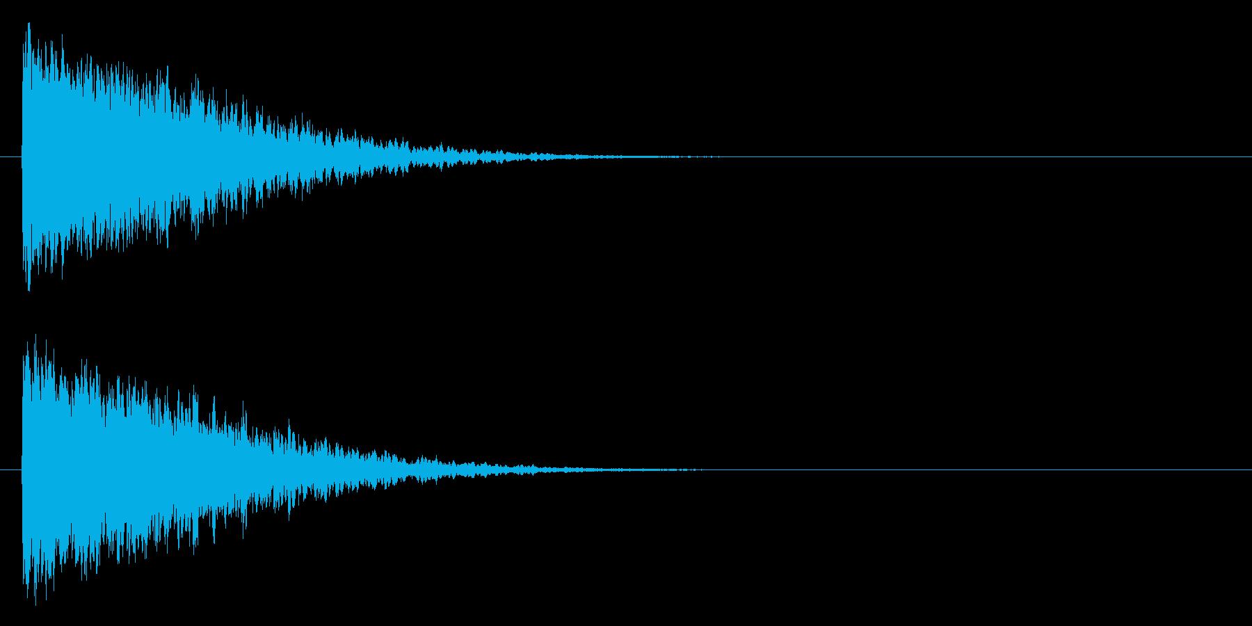 カキーン/氷魔法/黒魔法の再生済みの波形