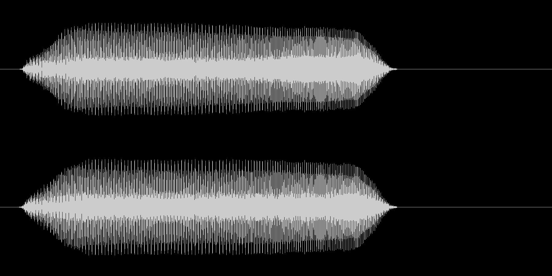 吹き出しや物の説明文が表示される時の音の未再生の波形