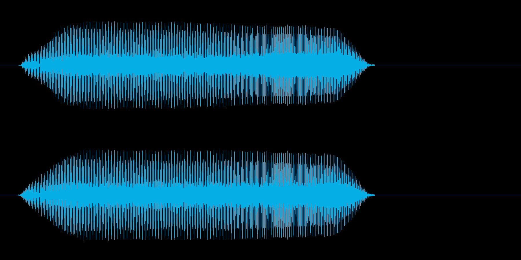 吹き出しや物の説明文が表示される時の音の再生済みの波形