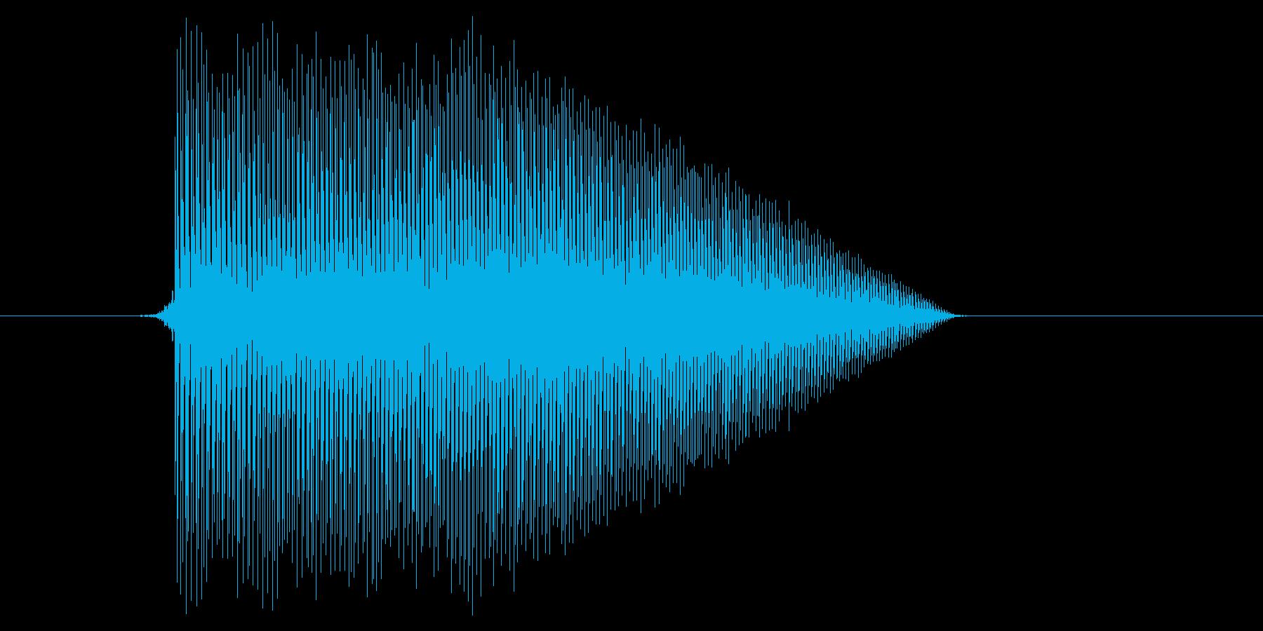 ゲーム(ファミコン風)ジャンプ音_042の再生済みの波形
