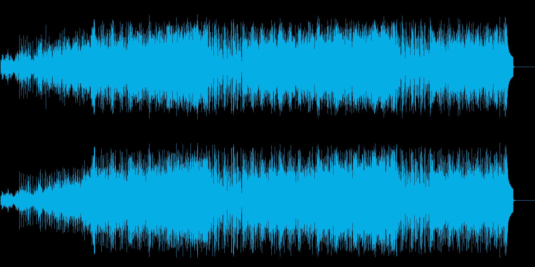 報道向けのシリアルなドキュメントの再生済みの波形