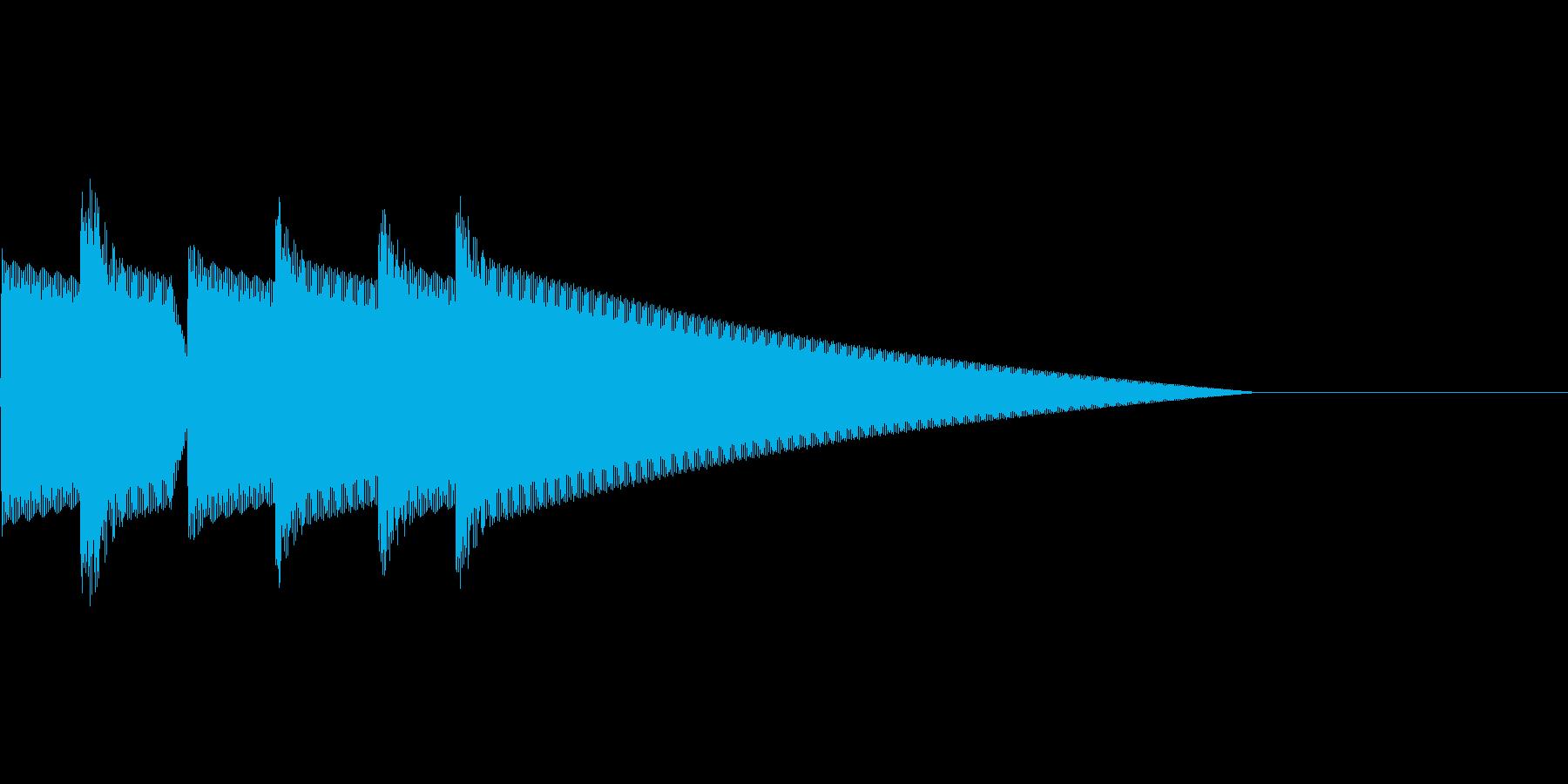 クイズ正解(ピンポーン×3)の再生済みの波形
