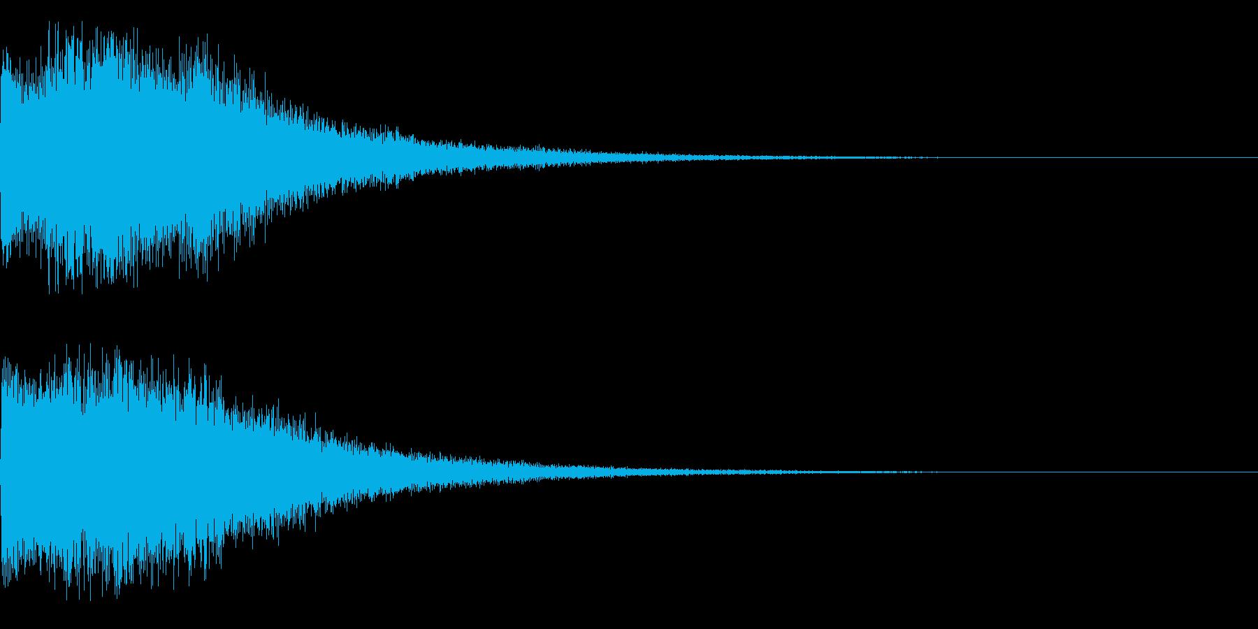 注目、テロップ等の再生済みの波形
