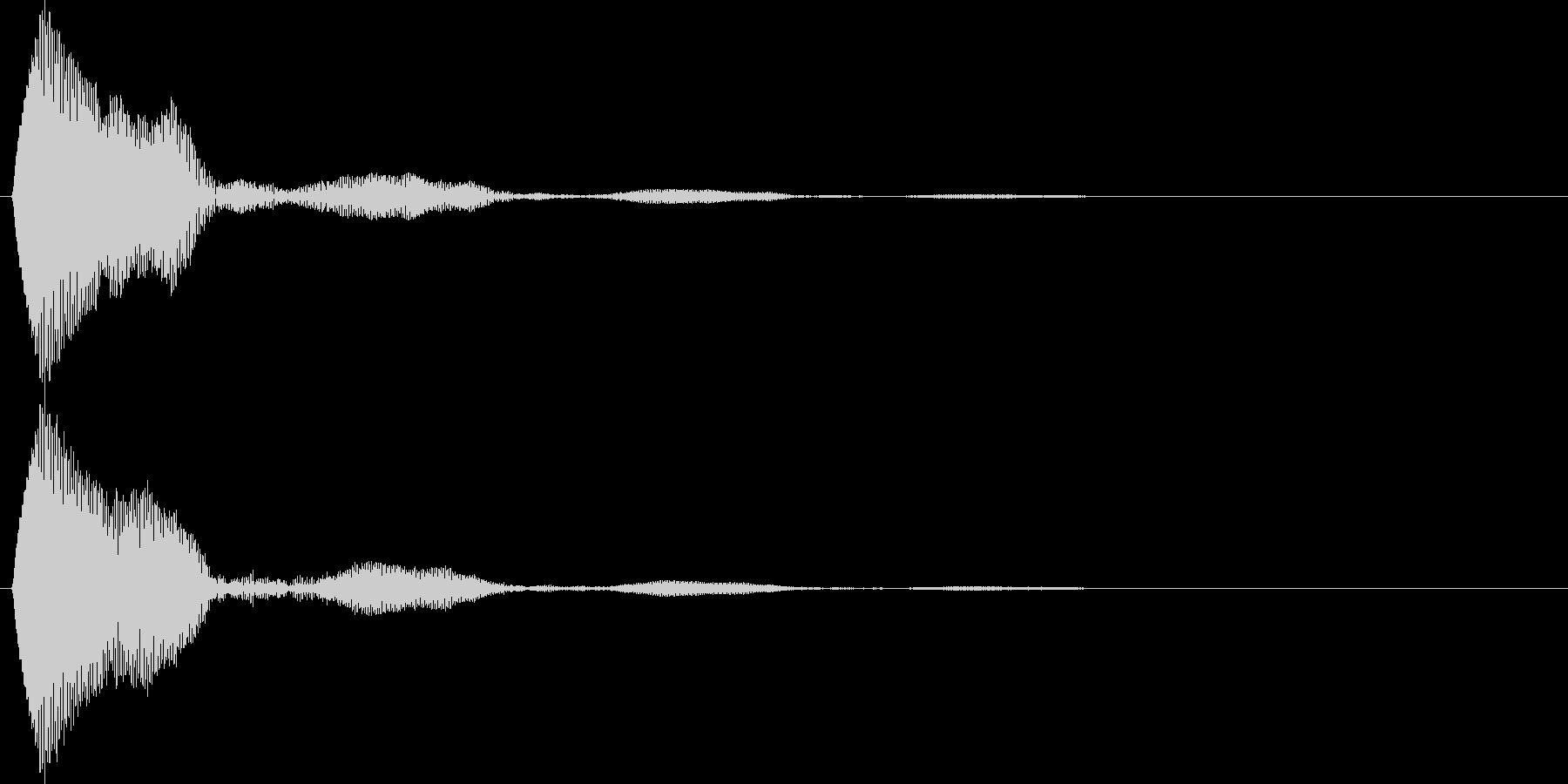 キャンセル音 タッチやポップアップ等の未再生の波形