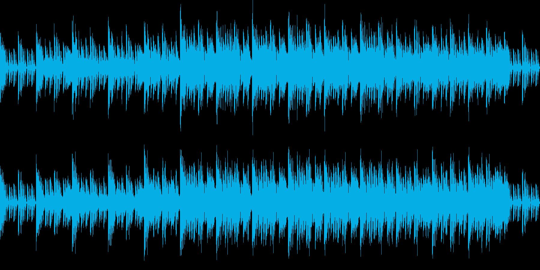 シンセサイザーを使った近未来的なEDMの再生済みの波形