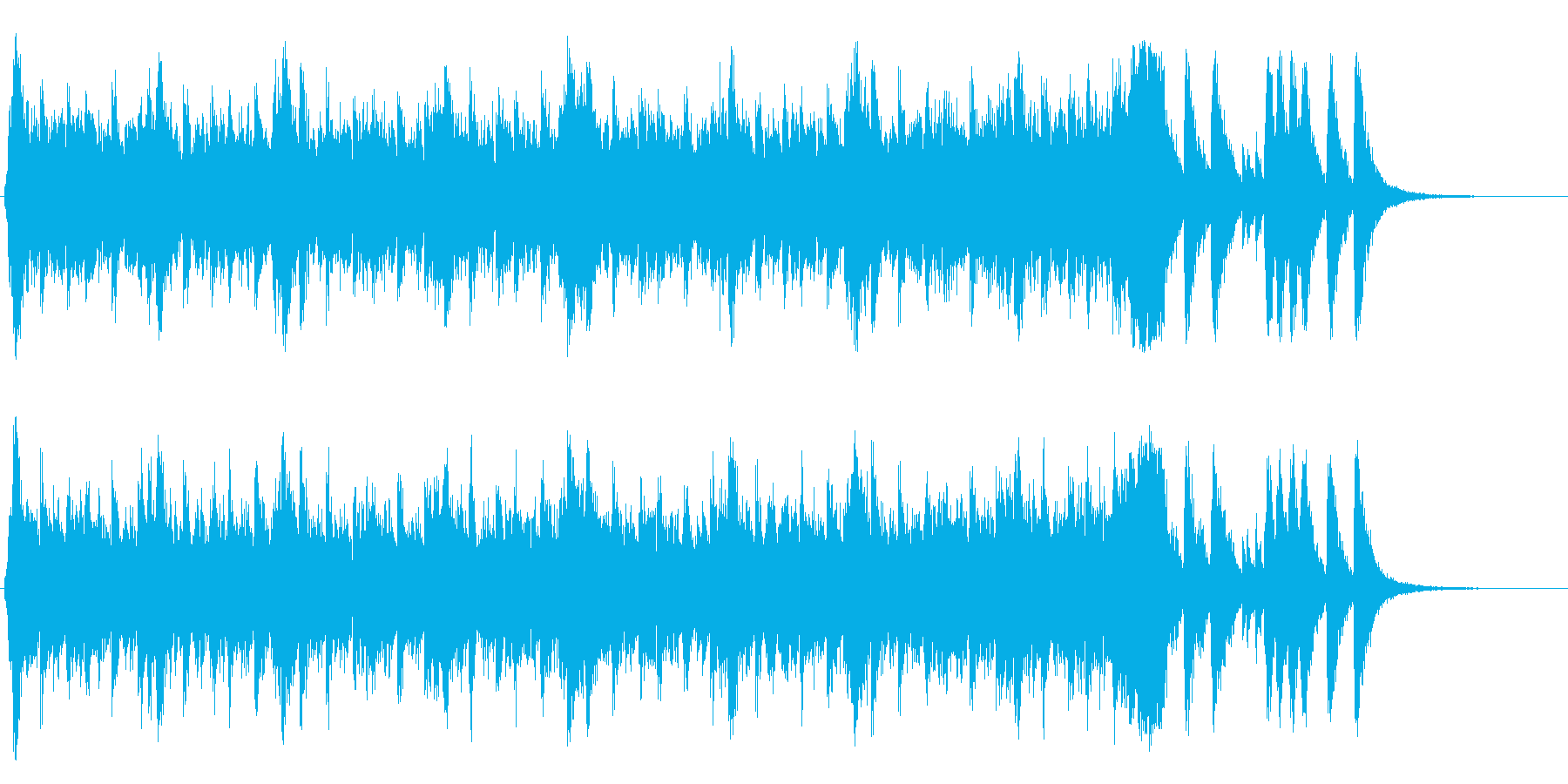 ハリウッド系アイキャッチ04の再生済みの波形