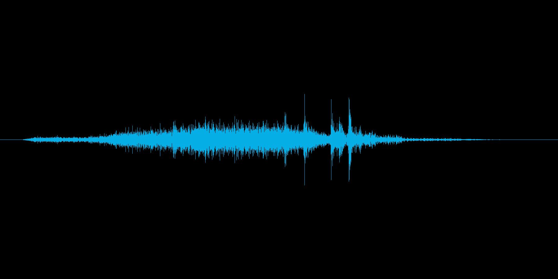 ページめくり音ですの再生済みの波形