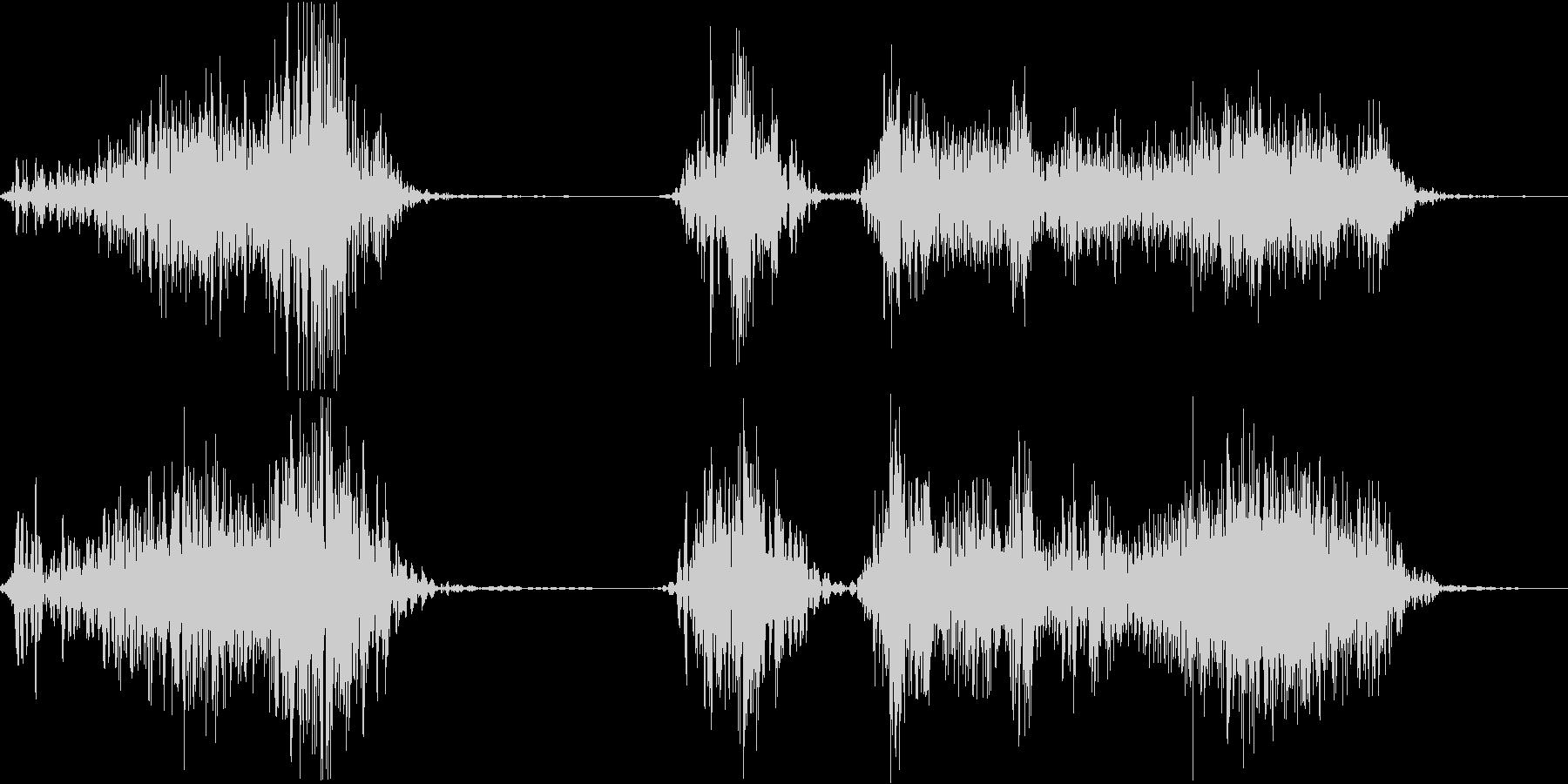 チャックを開ける音の未再生の波形