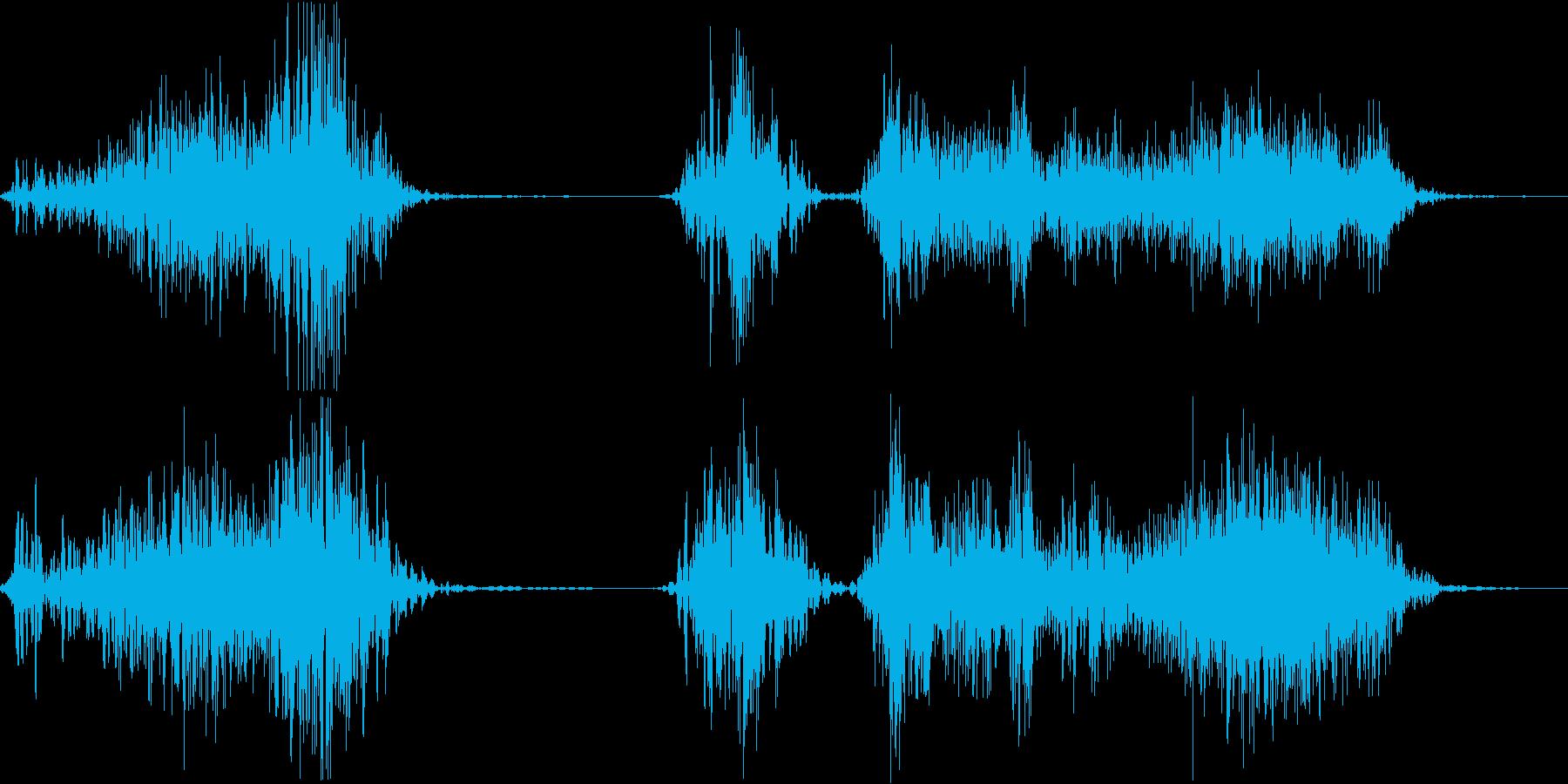 チャックを開ける音の再生済みの波形