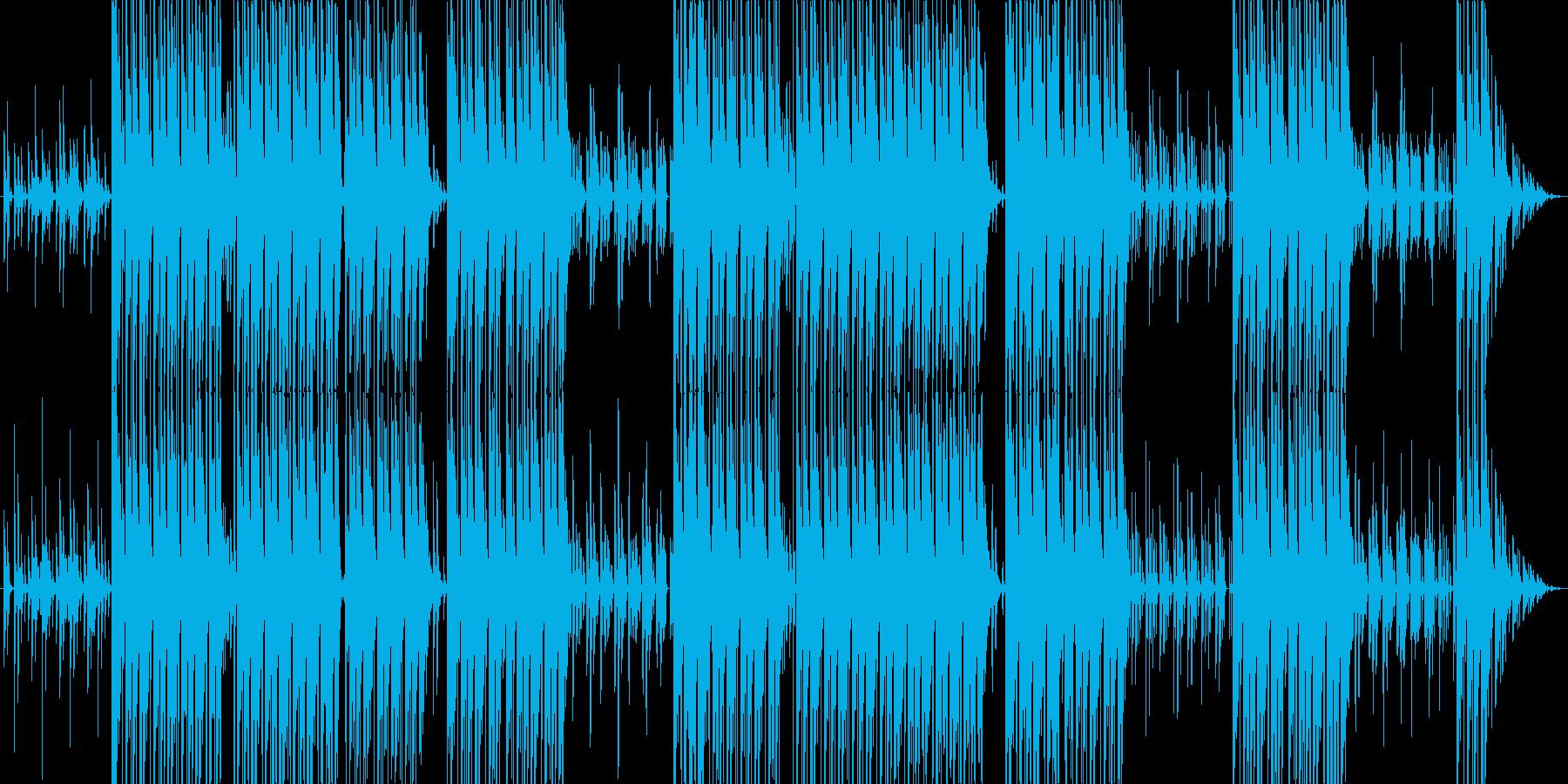 DJが作る踊れるhiphopビートの再生済みの波形