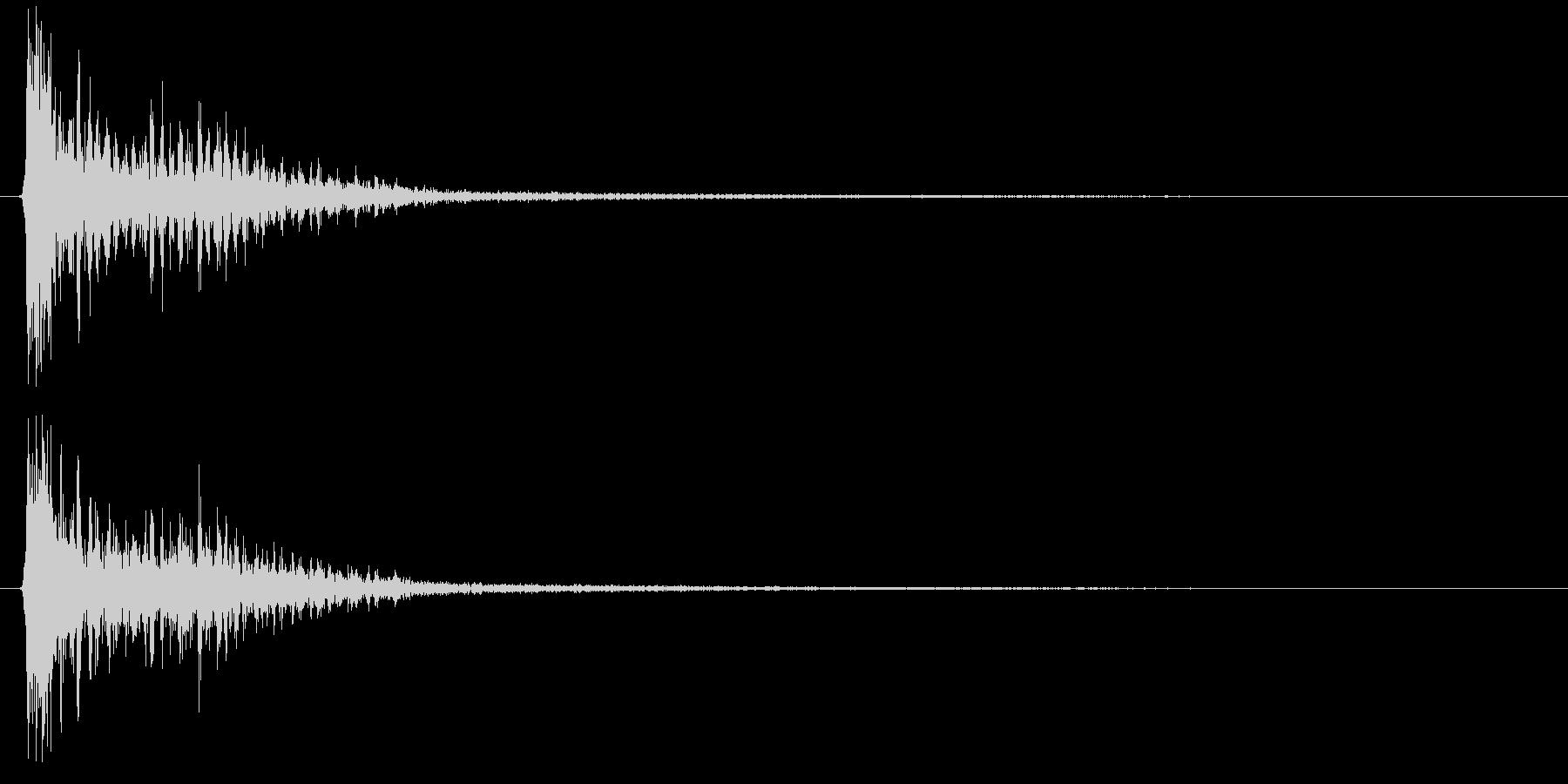 時代劇演出音(カアアッ テイク1)の未再生の波形