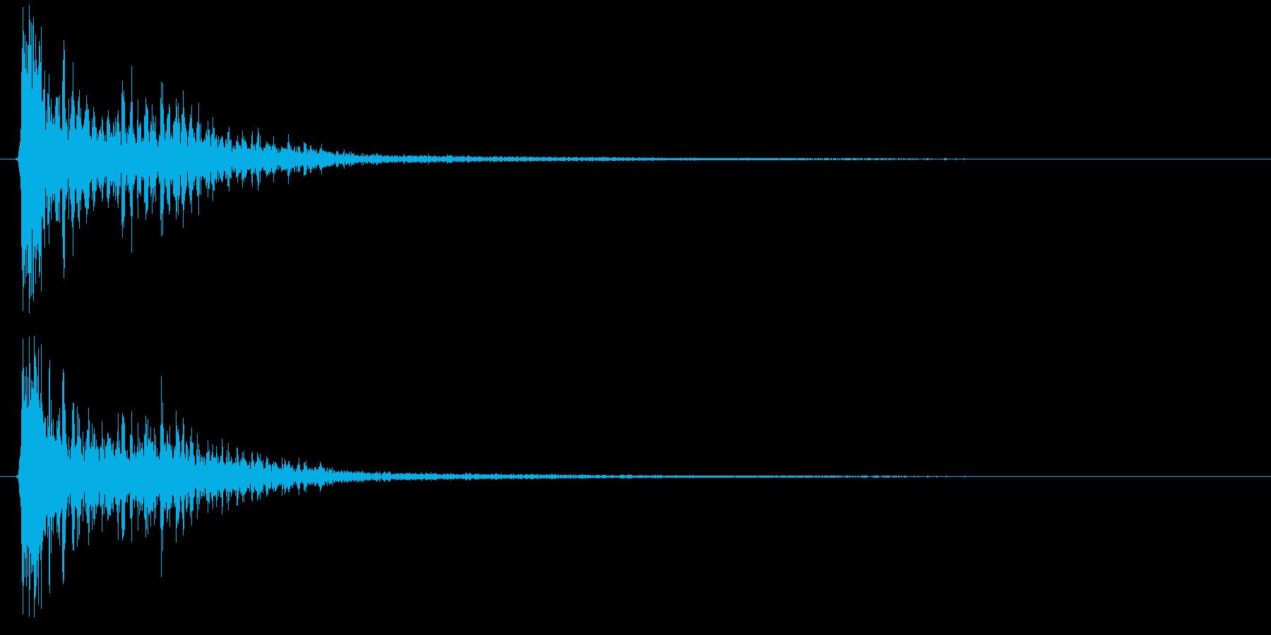 時代劇演出音(カアアッ テイク1)の再生済みの波形