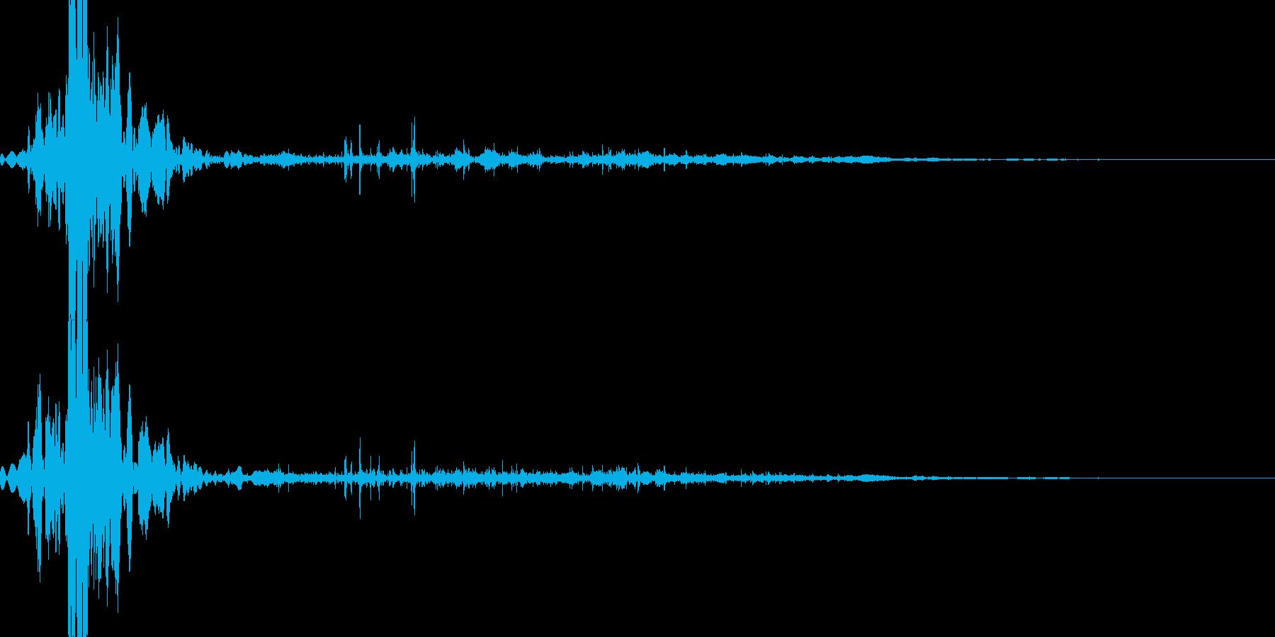 ゾンビに体をえぐられるの再生済みの波形