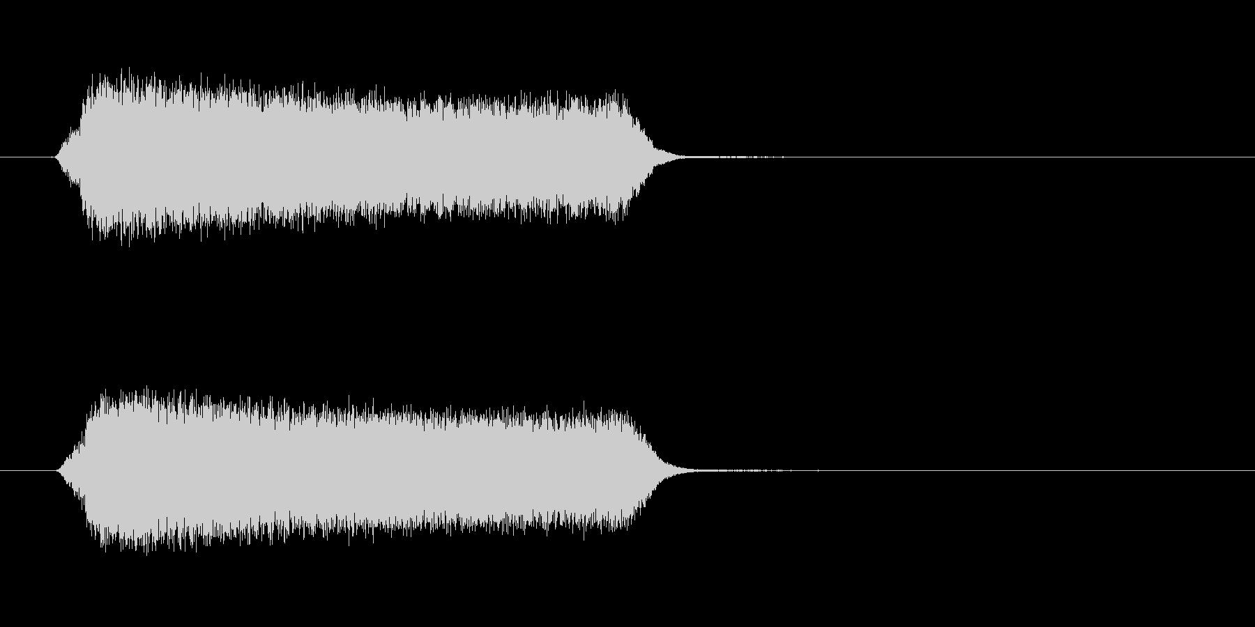 シュゥィィン 移動 光線 魔法 ロゴの未再生の波形