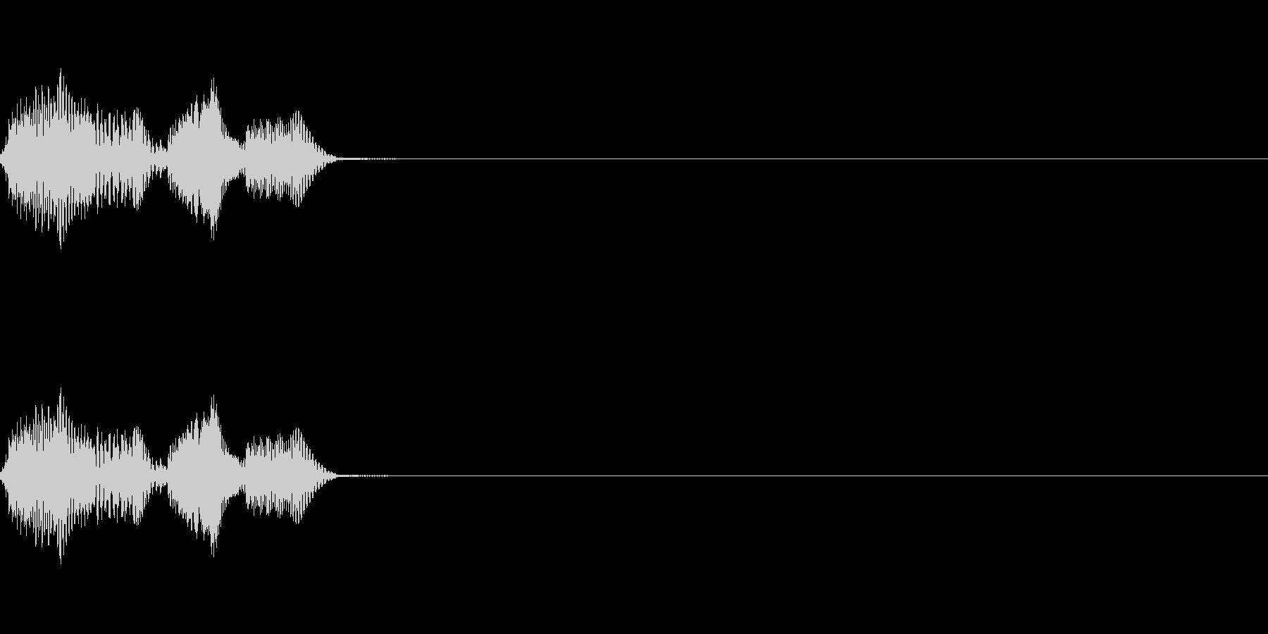 [ポヨン]跳ねる(コミカル)の未再生の波形