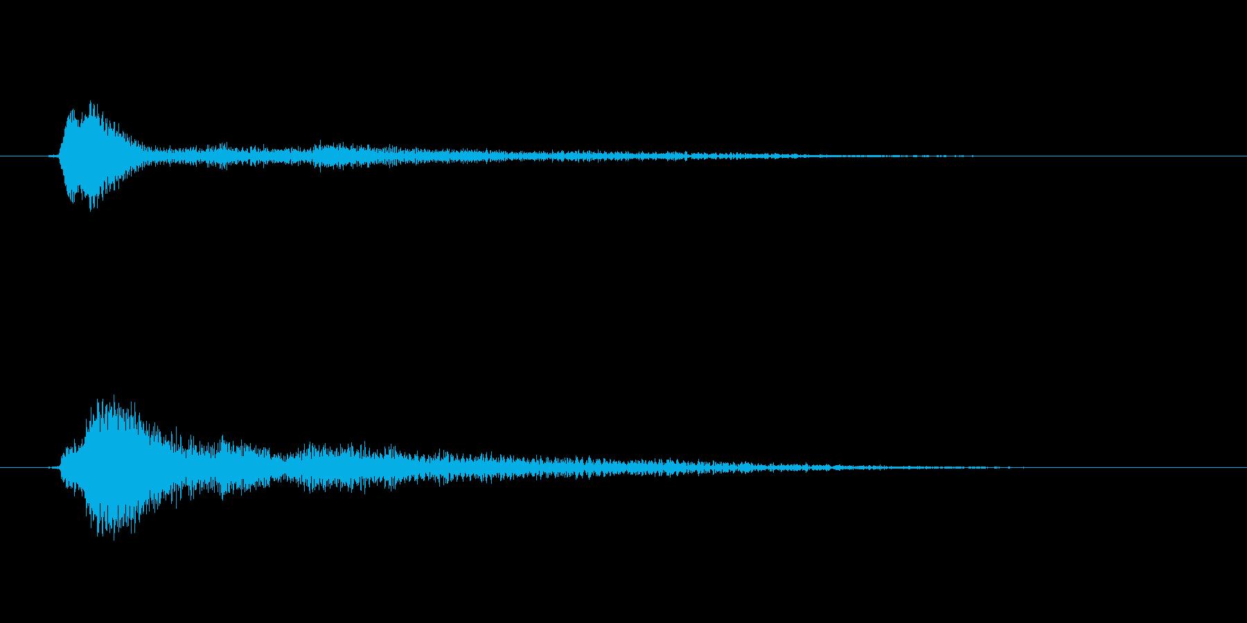 決定/クリック/選択音(和音/固めの音)の再生済みの波形