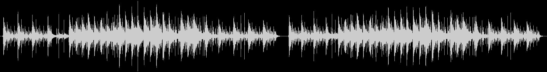 眠りそうなインストヒップホップの未再生の波形