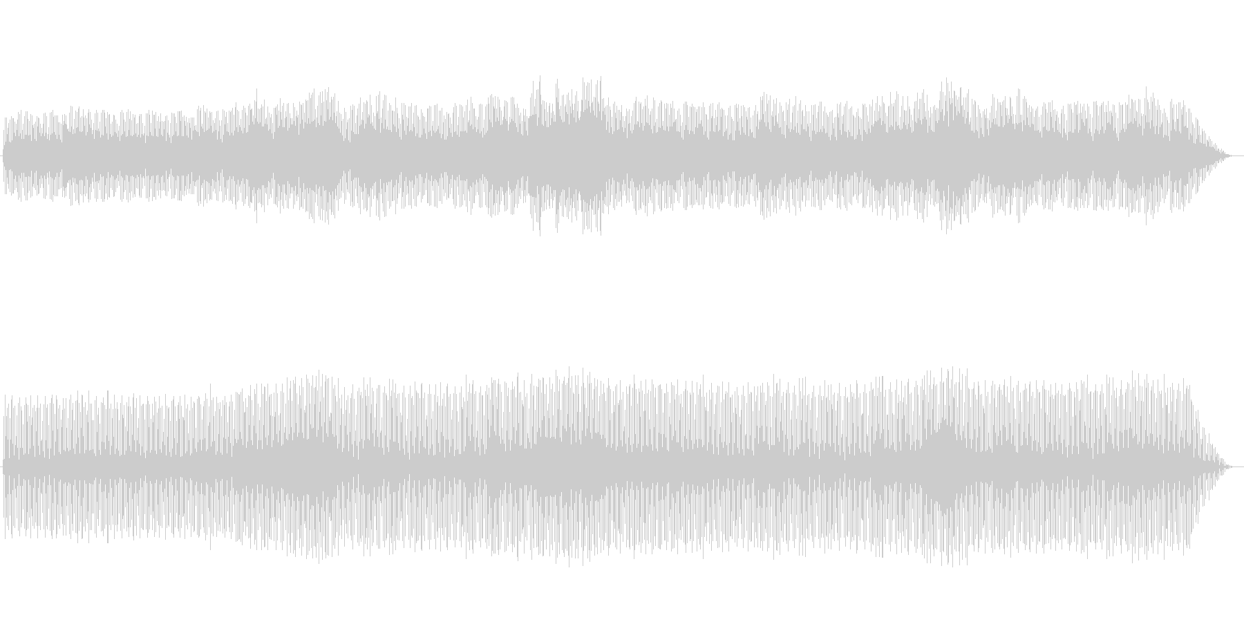 笛の音が印象的なシンセミュージックの未再生の波形