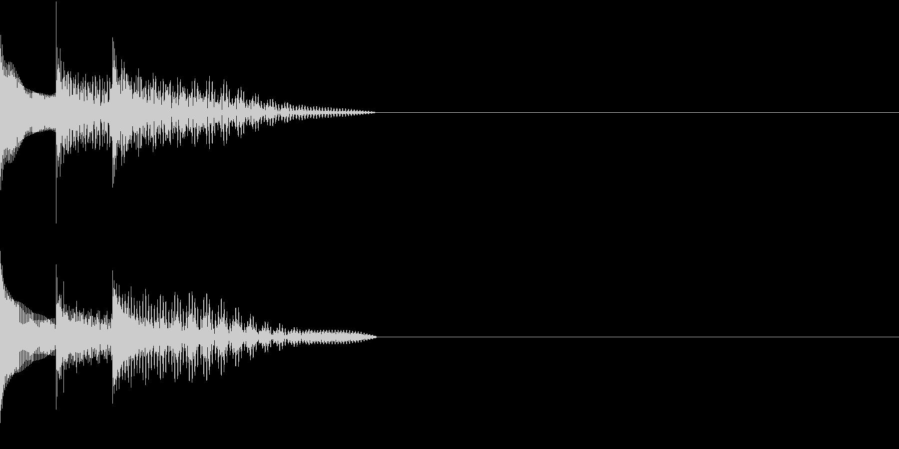 Cursor セレクト・カーソルの音15の未再生の波形