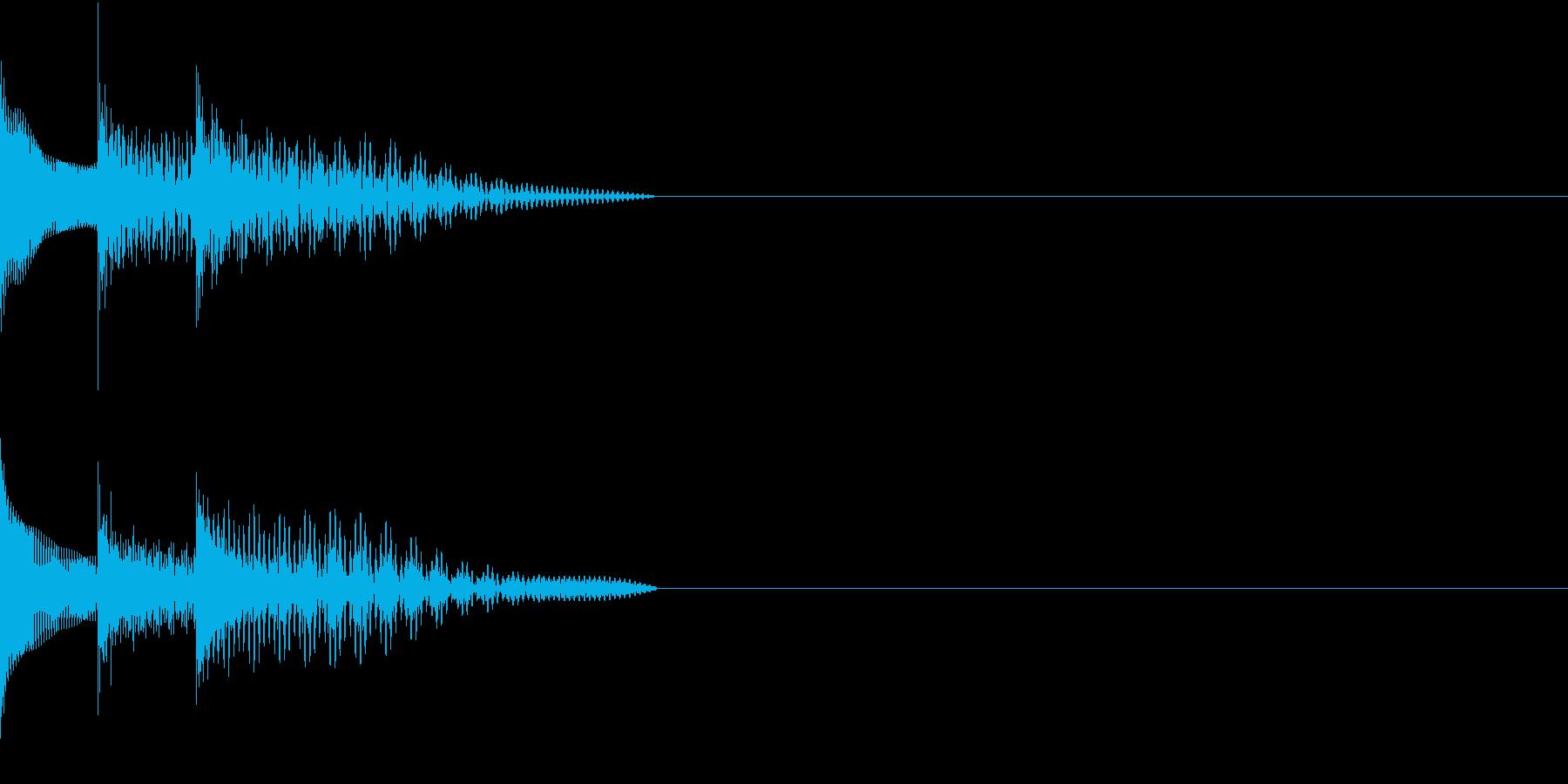 Cursor セレクト・カーソルの音15の再生済みの波形