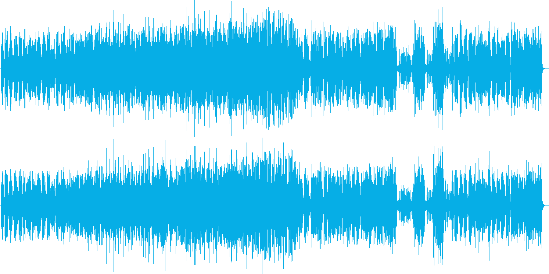 ガーシュウィンのスタンダードジャズの再生済みの波形