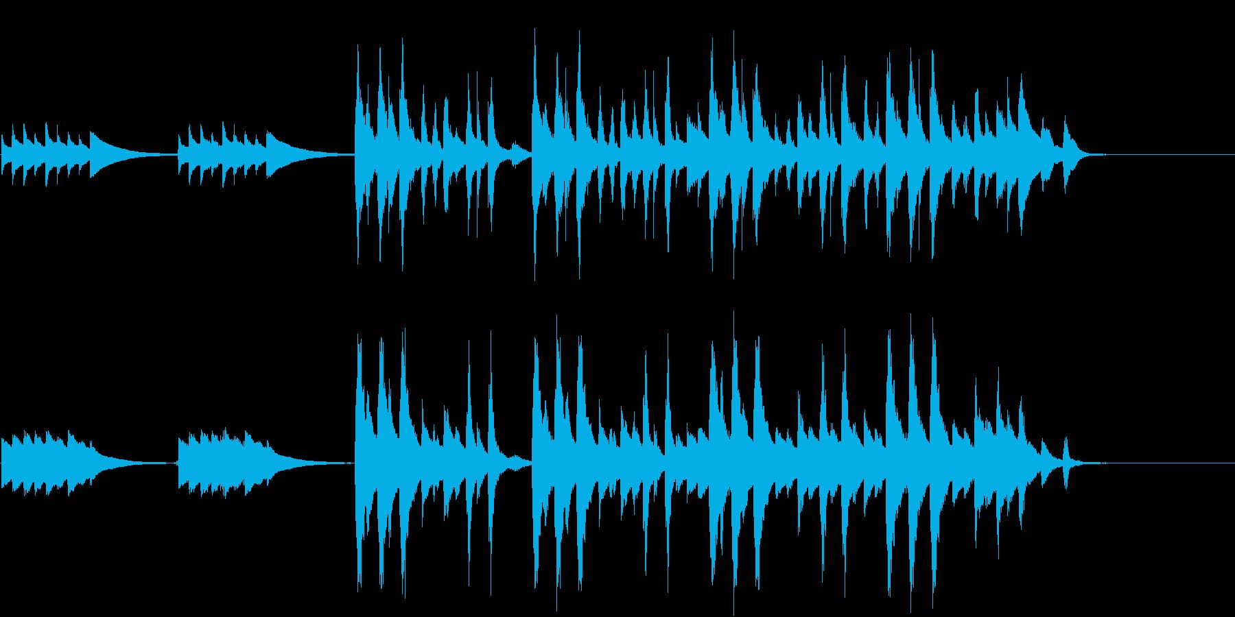 CM音楽ストリングス&オルゴールの再生済みの波形