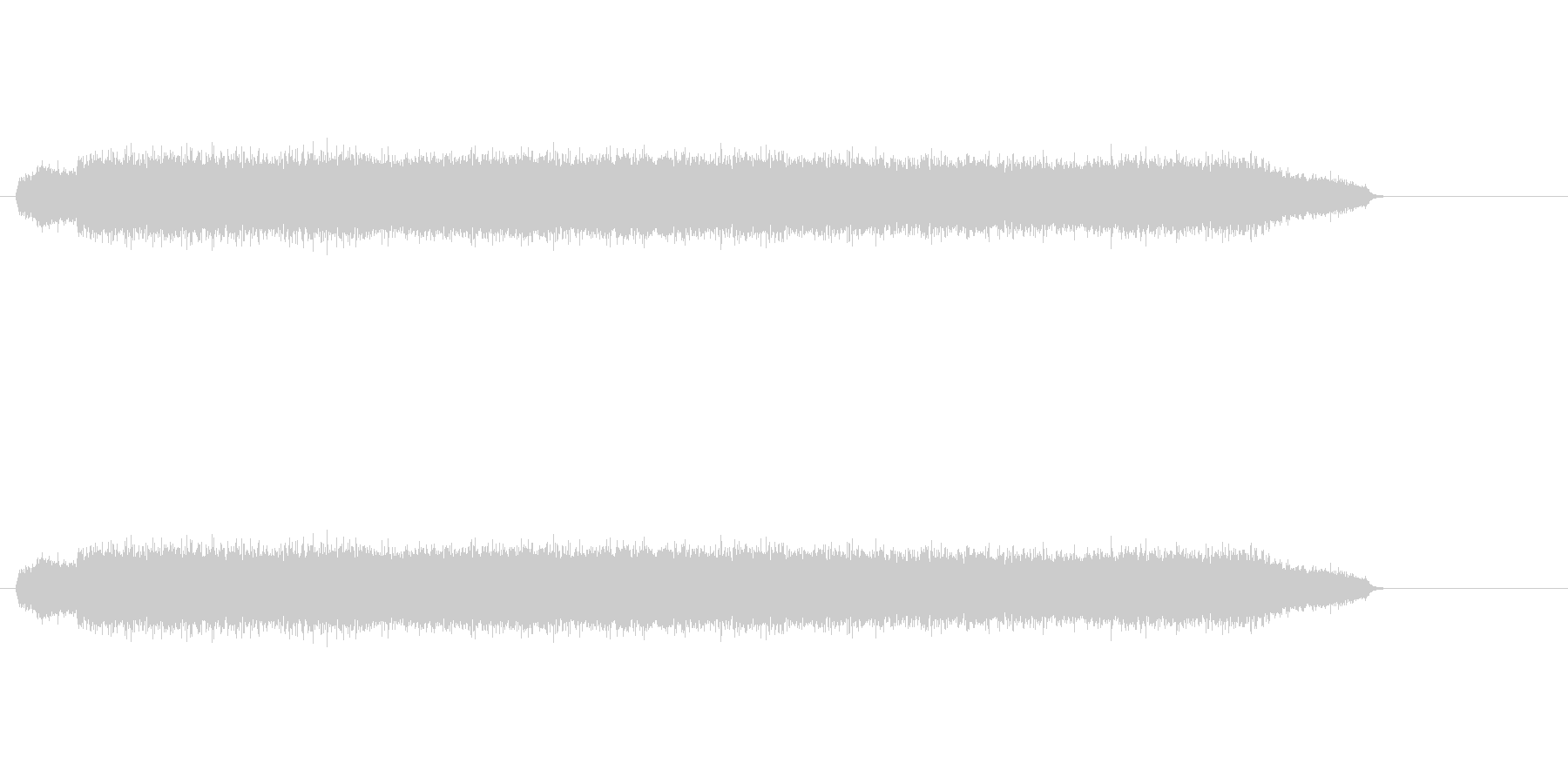ウィーン(機械音)の未再生の波形