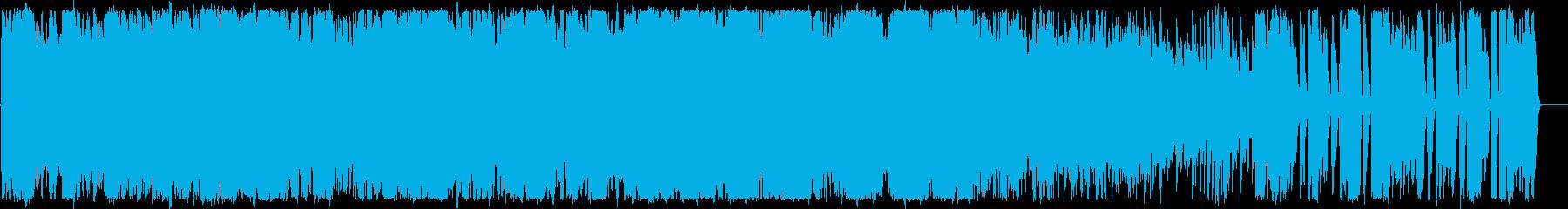 硬質でメロディアスなトランスの再生済みの波形