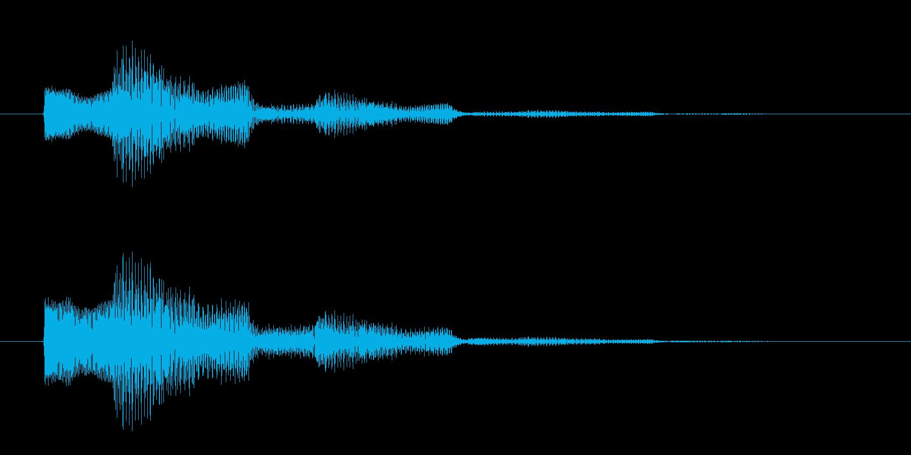 決定/クリック/選択音(和音)の再生済みの波形