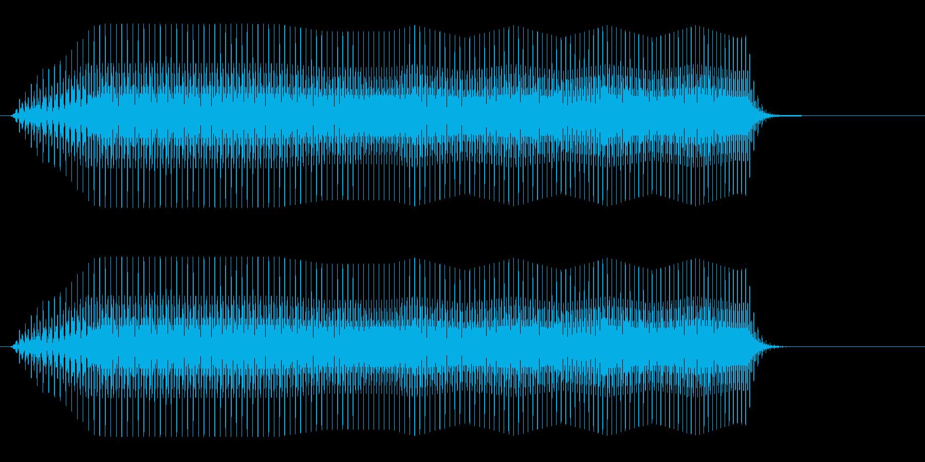 プワーッ(コミカル)の再生済みの波形