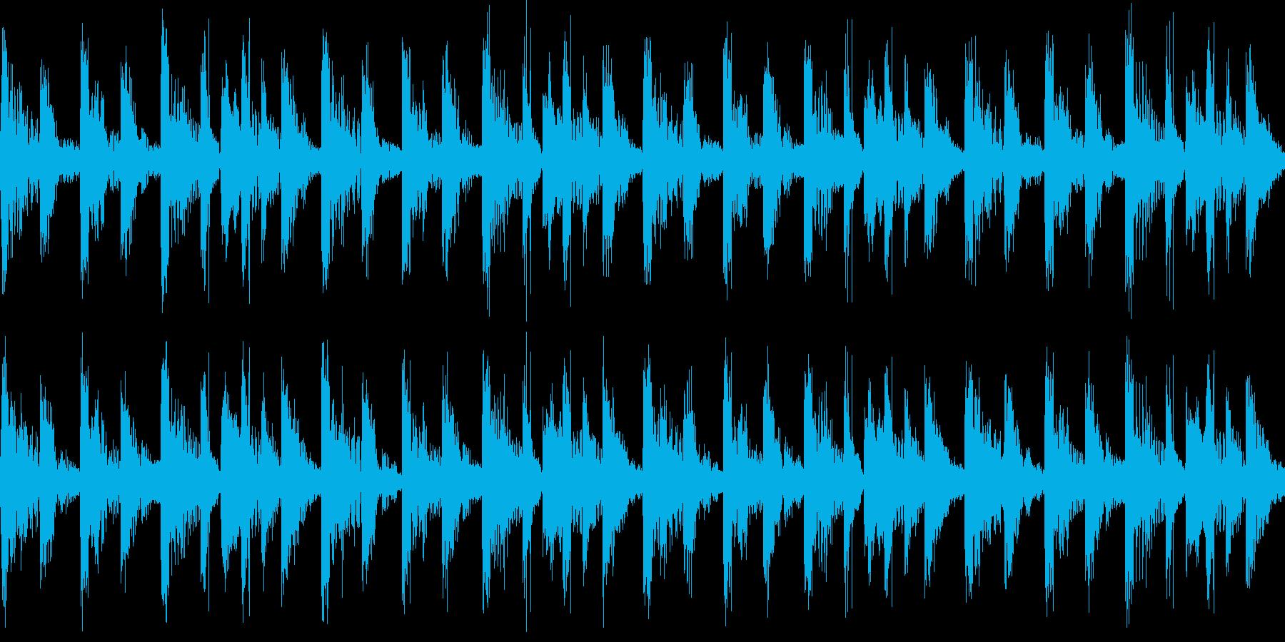 キャラ選択、システム画面(ループ)2-2の再生済みの波形