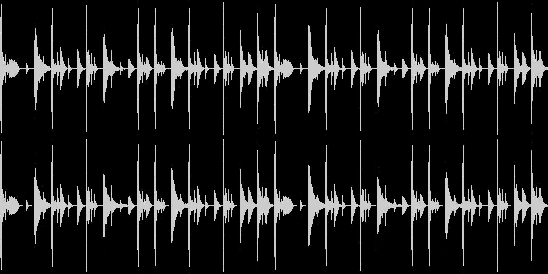 ファンク ドラムパターン ディスコの未再生の波形