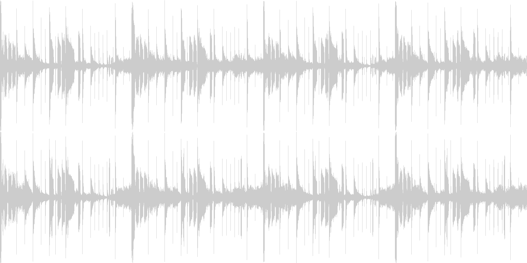 寂しげなラウンジ調ループ。の未再生の波形