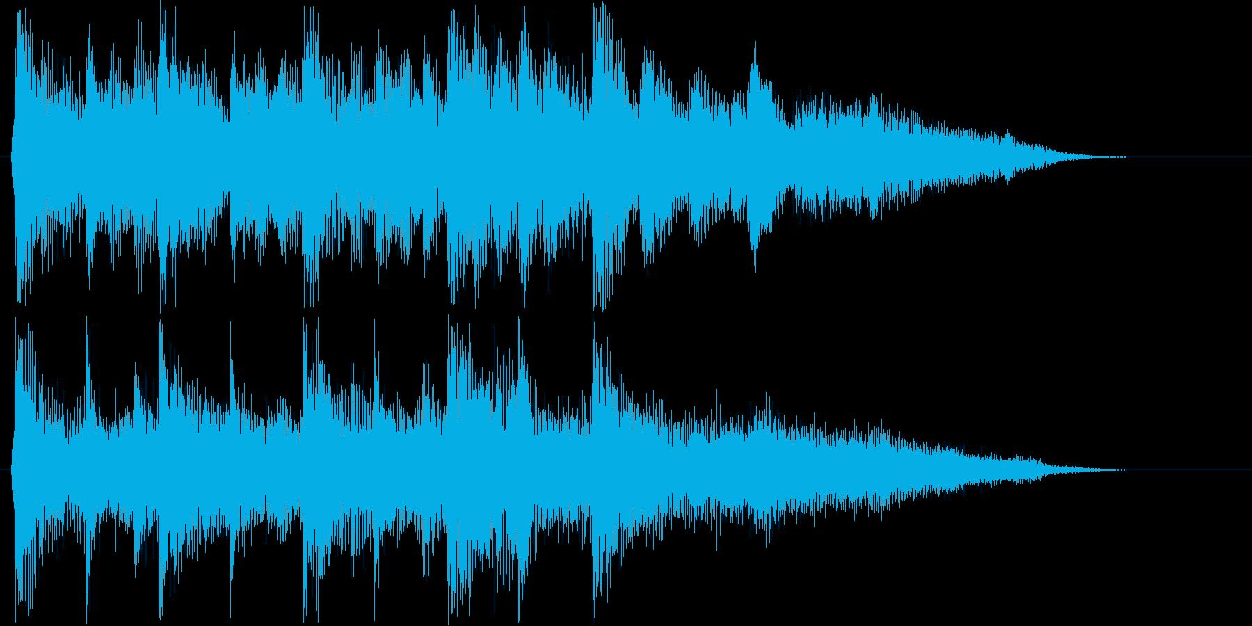 コミカルで可愛らしいテクノの再生済みの波形