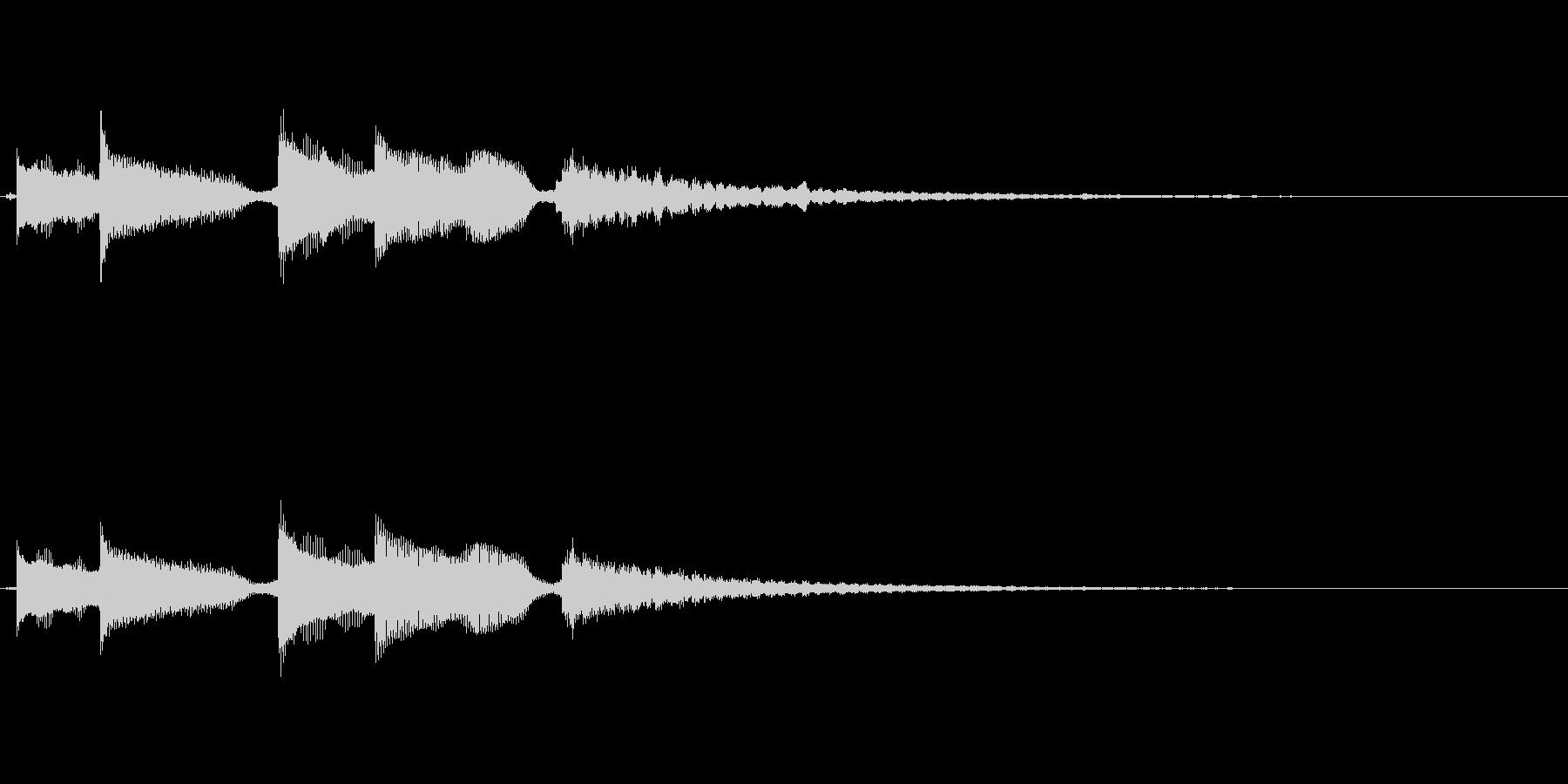 優しいアコギのサウンドロゴの未再生の波形