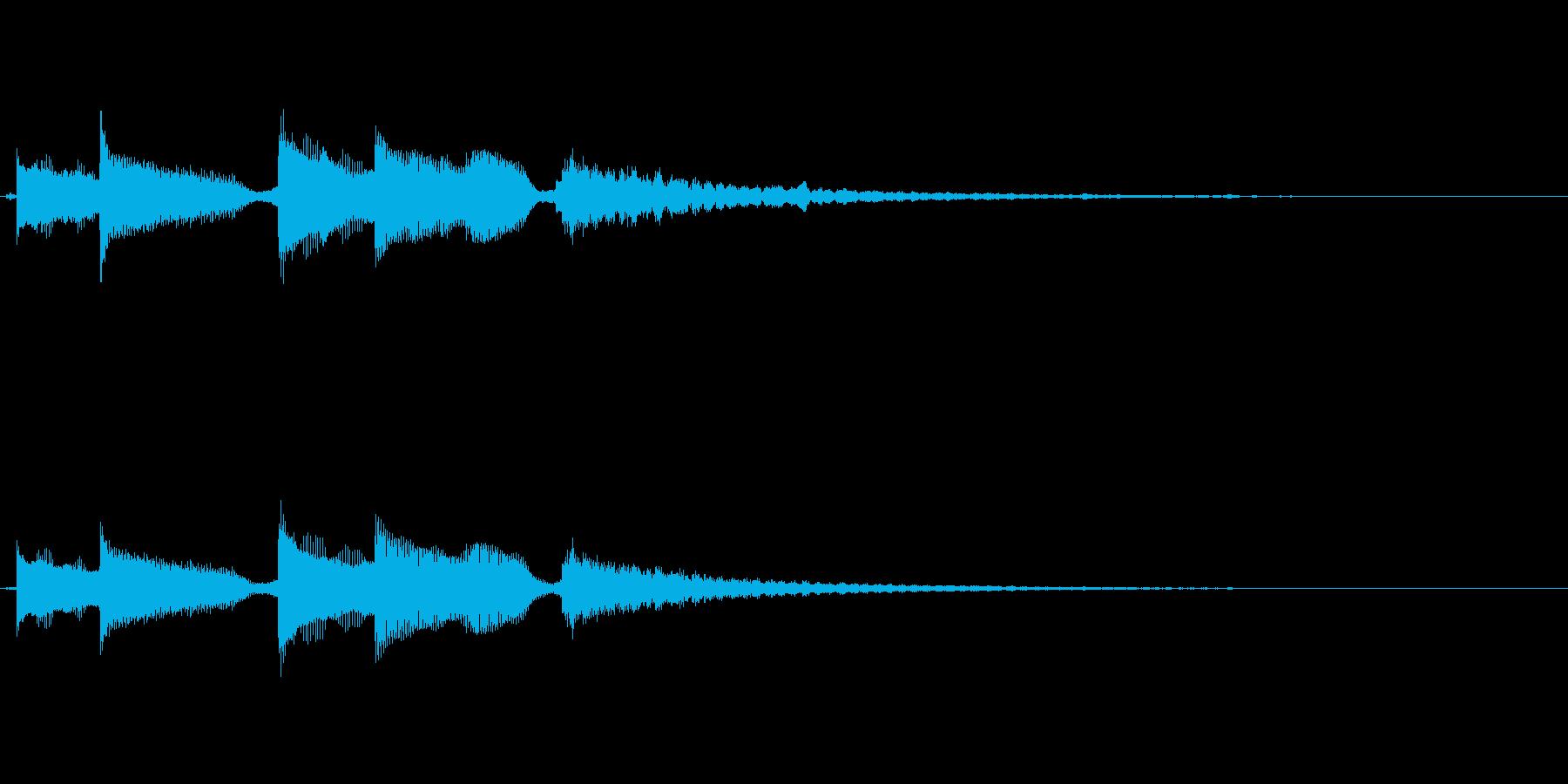 優しいアコギのサウンドロゴの再生済みの波形
