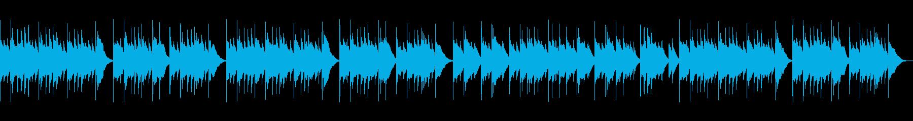ほのぼのとしたオルゴール曲の再生済みの波形