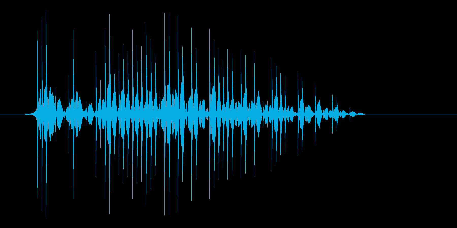 ゲーム(ファミコン風)爆発音_020の再生済みの波形